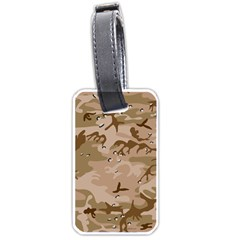 Desert Camo Gulf War Style Grey Brown Army Luggage Tags (one Side)  by Jojostore