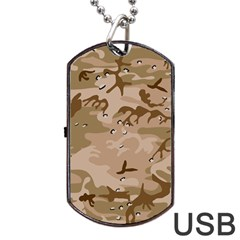 Desert Camo Gulf War Style Grey Brown Army Dog Tag Usb Flash (one Side) by Jojostore