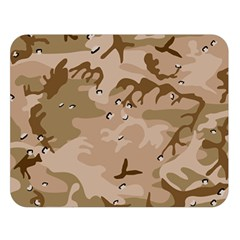 Desert Camo Gulf War Style Grey Brown Army Double Sided Flano Blanket (large)  by Jojostore