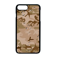 Desert Camo Gulf War Style Grey Brown Army Apple Iphone 7 Plus Seamless Case (black) by Jojostore