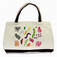 Design Elements Illustrator Elements Vasare Creative Scribble Blobs Basic Tote Bag (two Sides)