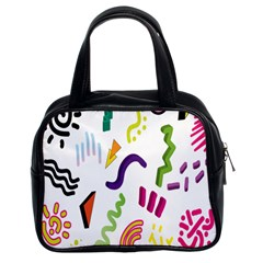 Design Elements Illustrator Elements Vasare Creative Scribble Blobs Classic Handbags (2 Sides)