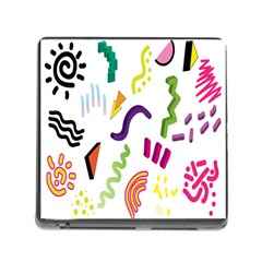 Design Elements Illustrator Elements Vasare Creative Scribble Blobs Memory Card Reader (square) by Jojostore