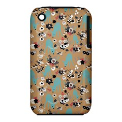 Deer Cerry Animals Flower Floral Leaf Fruit Brown Black Blue Iphone 3s/3gs by Jojostore