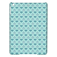 Diamond Heart Card Valentine Love Blue Ipad Air Hardshell Cases