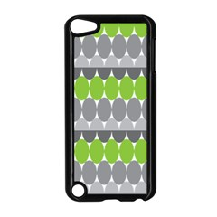 Egg Wave Chevron Green Grey Apple Ipod Touch 5 Case (black)