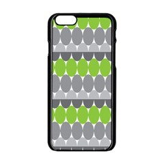 Egg Wave Chevron Green Grey Apple Iphone 6/6s Black Enamel Case