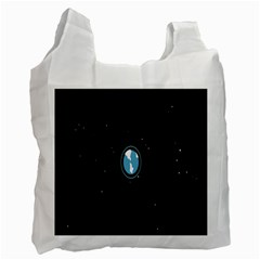 Earth Universe Natural Space Galaxy Recycle Bag (one Side)