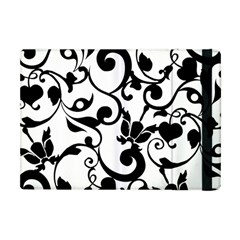 Floral Flower Leaf Black Apple Ipad Mini Flip Case by Jojostore
