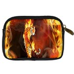 Fire Tiger Lion Animals Wild Orange Yellow Digital Camera Cases Back