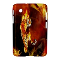 Fire Tiger Lion Animals Wild Orange Yellow Samsung Galaxy Tab 2 (7 ) P3100 Hardshell Case  by Jojostore