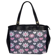 Flower Floral Rose Sunflower Pink Grey Love Heart Valentine Office Handbags by Jojostore