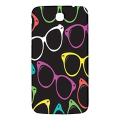 Glasses Color Pink Mpurple Green Yellow Blue Rainbow Black Samsung Galaxy Mega I9200 Hardshell Back Case by Jojostore