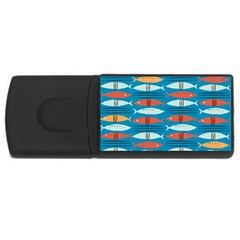 Go Fish  Fishing Animals Sea Water Beach Red Blue Orange Grey Usb Flash Drive Rectangular (4 Gb) by Jojostore