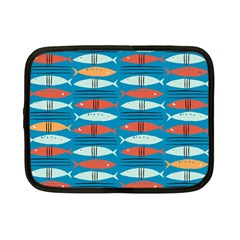 Go Fish  Fishing Animals Sea Water Beach Red Blue Orange Grey Netbook Case (small)