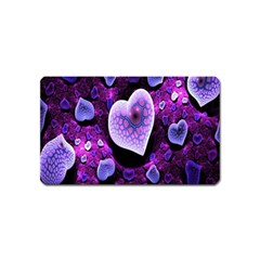 Hearts On Snake Pattern Purple Pink Love Magnet (name Card)