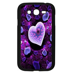 Hearts On Snake Pattern Purple Pink Love Samsung Galaxy Grand Duos I9082 Case (black)