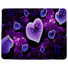 Hearts On Snake Pattern Purple Pink Love Jigsaw Puzzle Photo Stand (rectangular)