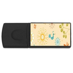 Kids Bird Sun Flower Floral Leaf Animals Color Rainbow Usb Flash Drive Rectangular (4 Gb) by Jojostore