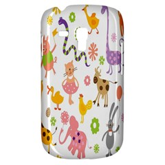 Kids Animal Giraffe Elephant Cows Horse Pigs Chicken Snake Cat Rabbits Duck Flower Floral Rainbow Galaxy S3 Mini by Jojostore