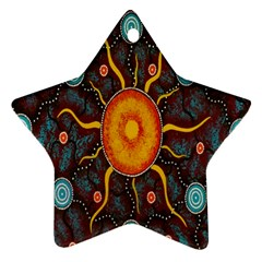 Great Sun Fabric Woven Batik Star Ornament (two Sides) by Jojostore