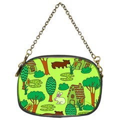 Kids House Rabbit Cow Tree Flower Green Chain Purses (one Side)  by Jojostore
