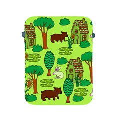 Kids House Rabbit Cow Tree Flower Green Apple Ipad 2/3/4 Protective Soft Cases