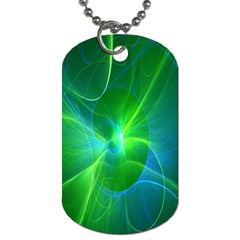 Line Green Light Dog Tag (one Side)
