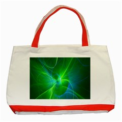 Line Green Light Classic Tote Bag (red)