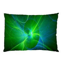 Line Green Light Pillow Case (two Sides) by Jojostore