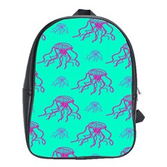 Jellyfish Pink Green Blue Tentacel School Bags(large)