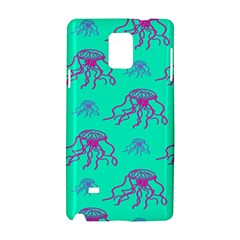 Jellyfish Pink Green Blue Tentacel Samsung Galaxy Note 4 Hardshell Case