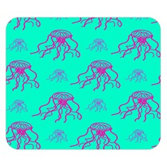 Jellyfish Pink Green Blue Tentacel Double Sided Flano Blanket (small)
