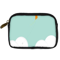 Minimalis Kite Clouds Orange Blue Sky Digital Camera Cases by Jojostore