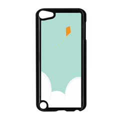 Minimalis Kite Clouds Orange Blue Sky Apple Ipod Touch 5 Case (black)