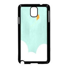 Minimalis Kite Clouds Orange Blue Sky Samsung Galaxy Note 3 Neo Hardshell Case (black) by Jojostore