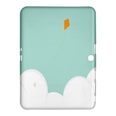 Minimalis Kite Clouds Orange Blue Sky Samsung Galaxy Tab 4 (10 1 ) Hardshell Case  by Jojostore