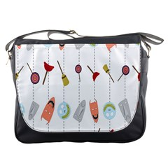 Mask Face Broom Candy Smile Helloween Messenger Bags
