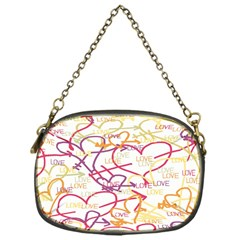 Love Heart Valentine Rainbow Color Purple Pink Yellow Green Chain Purses (one Side)  by Jojostore