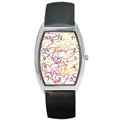 Love Heart Valentine Rainbow Color Purple Pink Yellow Green Barrel Style Metal Watch by Jojostore
