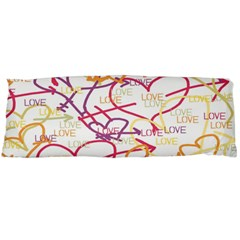 Love Heart Valentine Rainbow Color Purple Pink Yellow Green Body Pillow Case Dakimakura (two Sides)