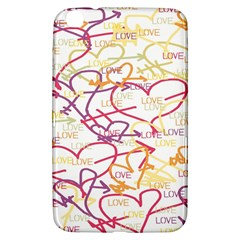 Love Heart Valentine Rainbow Color Purple Pink Yellow Green Samsung Galaxy Tab 3 (8 ) T3100 Hardshell Case  by Jojostore
