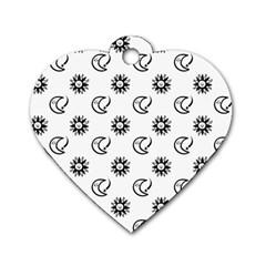 Month Moon Sun Star Dog Tag Heart (two Sides) by Jojostore