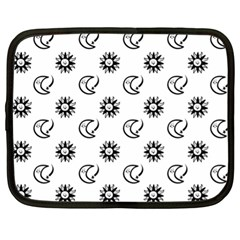 Month Moon Sun Star Netbook Case (xl)  by Jojostore