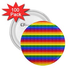 Love Valentine Rainbow Red Purple Blue Green Yellow Orange 2 25  Buttons (100 Pack)