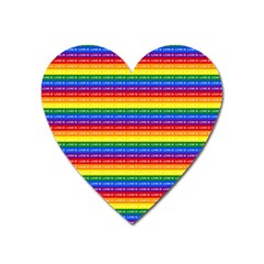 Love Valentine Rainbow Red Purple Blue Green Yellow Orange Heart Magnet by Jojostore