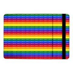 Love Valentine Rainbow Red Purple Blue Green Yellow Orange Samsung Galaxy Tab Pro 10 1  Flip Case by Jojostore