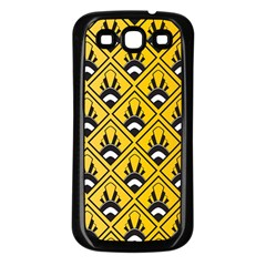 Original Honey Bee Yellow Triangle Samsung Galaxy S3 Back Case (black) by Jojostore
