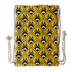 Original Honey Bee Yellow Triangle Drawstring Bag (large) by Jojostore