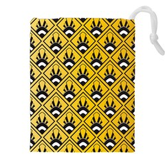 Original Honey Bee Yellow Triangle Drawstring Pouches (xxl) by Jojostore